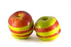 Twee gesneden appelen Royalty-vrije Stock Afbeelding
