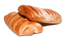 Twee gevlecht broodje Royalty-vrije Stock Afbeelding