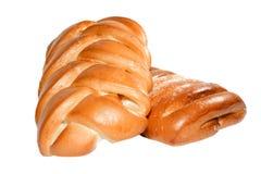 Twee gevlecht broodje Stock Fotografie
