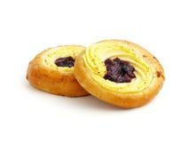 Twee gevulde broodjes Stock Foto's