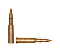 Twee geweerkogels Royalty-vrije Stock Afbeeldingen