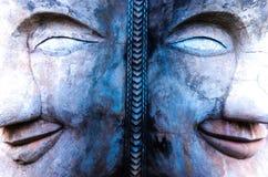 Twee gezichten Boedha royalty-vrije stock afbeelding