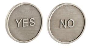 Twee gezichten van een muntstuk Stock Foto's