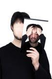 Twee gezichten - wanhoop Stock Foto's