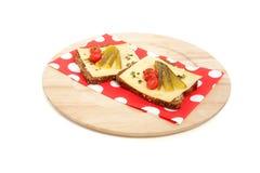 Twee gezonde kaassandwiches Royalty-vrije Stock Fotografie