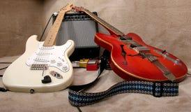 Twee gitaren Royalty-vrije Stock Afbeelding