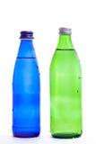 Twee glasflessen Stock Foto