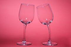 Twee Glazen Royalty-vrije Stock Afbeeldingen
