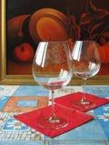 Twee glazen. Stock Fotografie