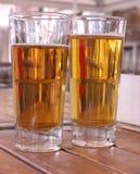 Twee glazen bier Royalty-vrije Stock Foto