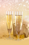 Twee glazen champagne Royalty-vrije Stock Fotografie