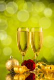 Twee glazen champagne Stock Foto's