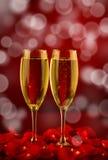 Twee glazen champagne Stock Foto