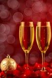 Twee glazen champagne Royalty-vrije Stock Foto's