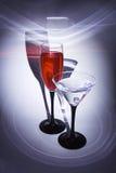 Twee glazen met flarden royalty-vrije stock foto