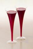 Twee glazen rode wijn Stock Fotografie