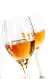 Twee glazen sherry royalty-vrije stock afbeelding