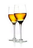 Twee glazen sherry stock foto's