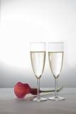 Twee glazen van Champagne Royalty-vrije Stock Foto