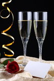 Twee glazen van Champagne royalty-vrije stock fotografie