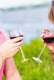 Twee glazen van de rode wijn Royalty-vrije Stock Fotografie