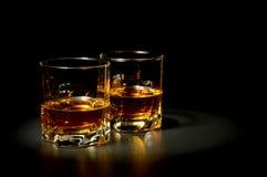 Twee glazen whisky Royalty-vrije Stock Fotografie