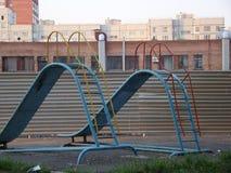 Twee glijbanen stock afbeelding