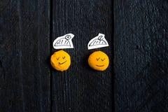 Twee glimlachgezicht Stock Foto
