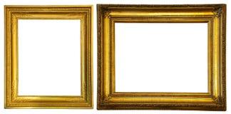 Twee gouden frames. Royalty-vrije Stock Afbeelding