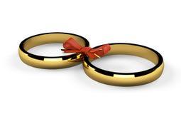 Twee gouden ringen Stock Foto's