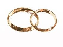 Twee gouden trouwringen Royalty-vrije Stock Fotografie