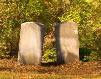 Twee grafstenen Royalty-vrije Stock Foto