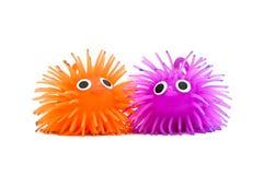 Twee grappig speelgoed Royalty-vrije Stock Afbeeldingen