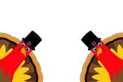 Twee grappige Dankzegging Turkije vector illustratie