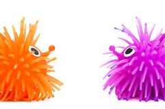 Twee grappige egels Royalty-vrije Stock Afbeelding