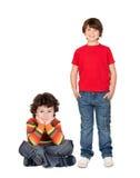 Twee grappige kinderen Royalty-vrije Stock Afbeeldingen