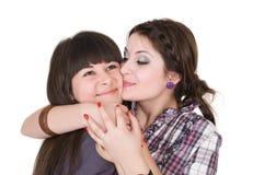 Twee grappige meisjes Stock Afbeeldingen
