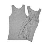Twee grijze overhemden Stock Foto