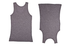 Twee grijze overhemden Stock Afbeeldingen