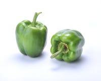 Twee Groene paprika's Stock Afbeelding