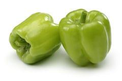 Twee Groene paprika's Stock Foto