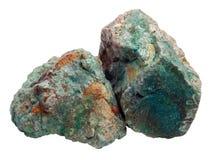 Twee groene stenen Royalty-vrije Stock Afbeeldingen