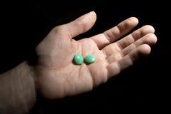 Twee groene tabletten Royalty-vrije Stock Afbeeldingen