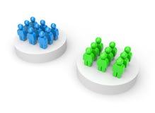 Twee groepen stock illustratie