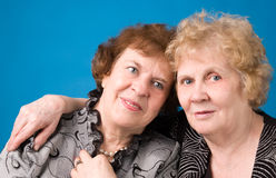 Twee grootmoeders. Stock Afbeelding
