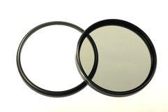 Twee grote foto-filters voor lens Royalty-vrije Stock Foto's