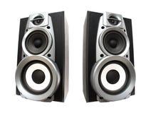 Twee grote luide sprekers royalty-vrije stock fotografie