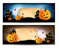 Twee Halloween-banners vector illustratie