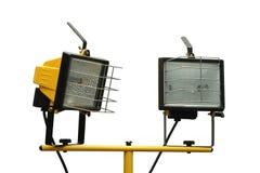 Twee halogeenschijnwerpers Royalty-vrije Stock Afbeeldingen