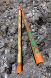 Twee Handcrafted Didgeridoo Royalty-vrije Stock Afbeeldingen
